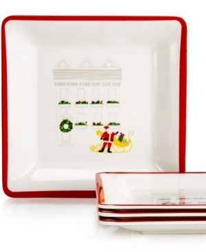 Martha Stewart Collection Holiday In The City Set Of 4 Square Appetizer Plates  sc 1 st  PJu0027s Parties-n-Foods & Appetizers for Holidays Martha Stewart u2013 PJu0027s Parties-n-Foods