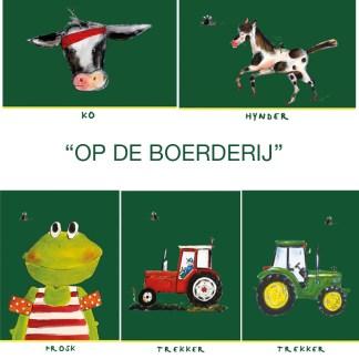 """setje 5 Friese kinderkaarten """"Op de boerderij"""""""