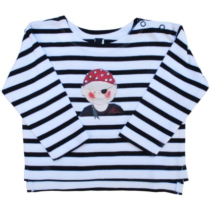 nautisch streepshirt met piraat