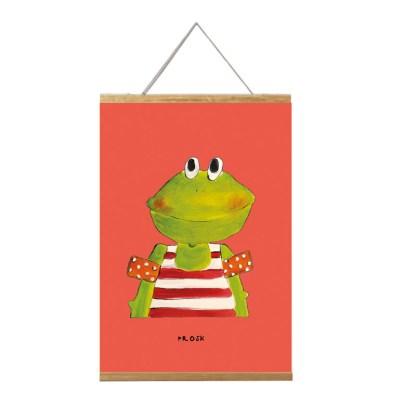 poster kikker in lijst 20x30 voor de kinderkamer van atelier Pjut Leeuwarden