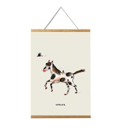 poster stippel paard 20x30 voor de kinderkamer van atelier Pjut Leeuwarden in lijst