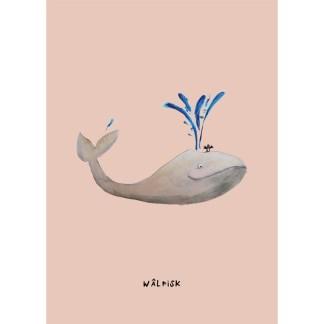 poster walvis 20x30 voor de kinderkamer