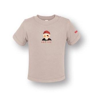 Baby T-shirt met piraatje van eerlijke en biologische geteelde katoen. De illustratie is van Inge Adema