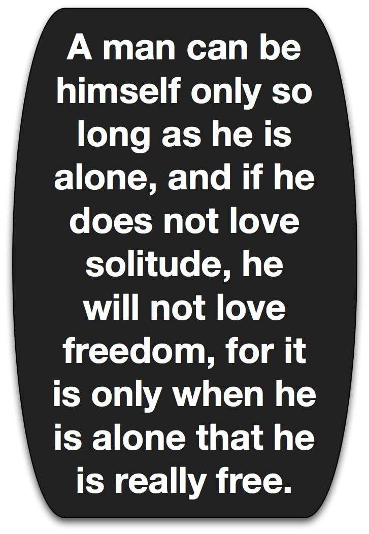 Arthur Schopenhauer, Alone.