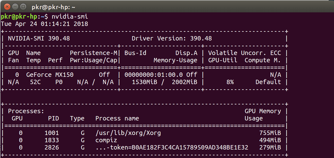 NVIDIA CUDA driver for Ubuntu 16.04 LTS laptop – My CV & Robotics Blog