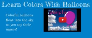 learn colors with balloons