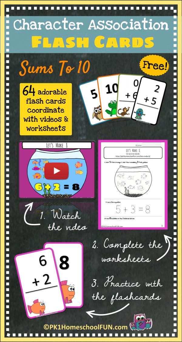 DIY Flash Cards For Kids Math Free Printable