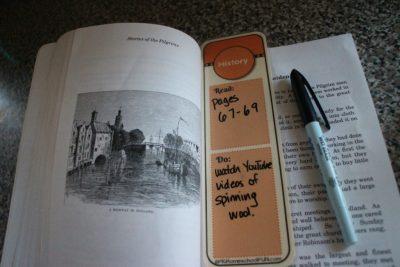 homeschool subject bookmarks