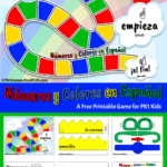 Spanish Numbers and Colors Game For Kids