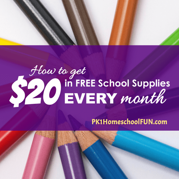 How To Get 20 Dollars In Free School Supplies EVERY Month