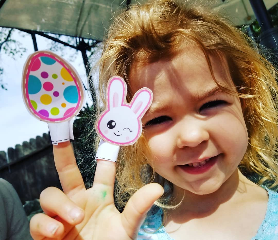 Free Easter Printables Easter Bunny Emoji Finger Puppets