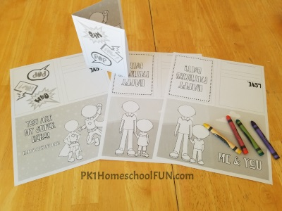 Coloring Page Fathers Day Cards You Can Print At Home For Kids To Fold And Color. Happy Fathers Day!
