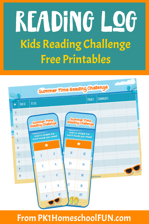 Inspire some fun summer reading with these adorable summer reading challenge printables. Great for a 100 Book Challenge or less, these free printables will add some fun to your child's summer reading goals. #summerreading #readinglog #freeprintable #reading
