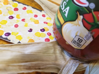 Fun fall crafts include this Easy Indian Corn Craft For Kids