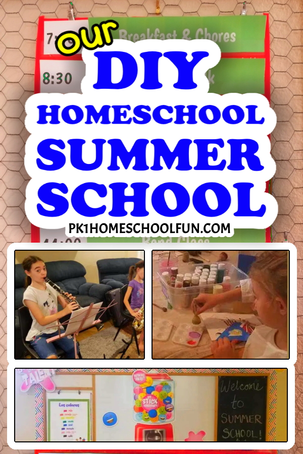 Here's what we're doing for our DIY homeschool Summer school this year!