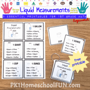 Print the file double sided on cardstock, laminate, cut, punch and clip for a reusable reference book that will last years. Perfect for introducing the units of measure and later learning to do conversions.