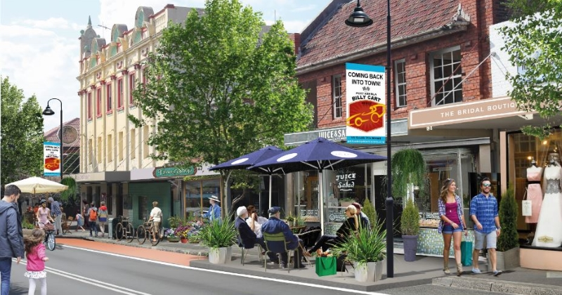 Artist's impression of Wentworth Street, Port Kembla