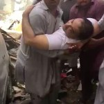 Bank of Punjab President Zafar Masud being rescued by local heroes after the PIA aircraft crash in Karachi