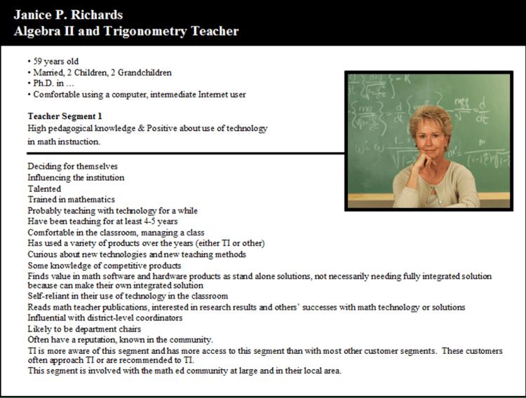 Teacher persona