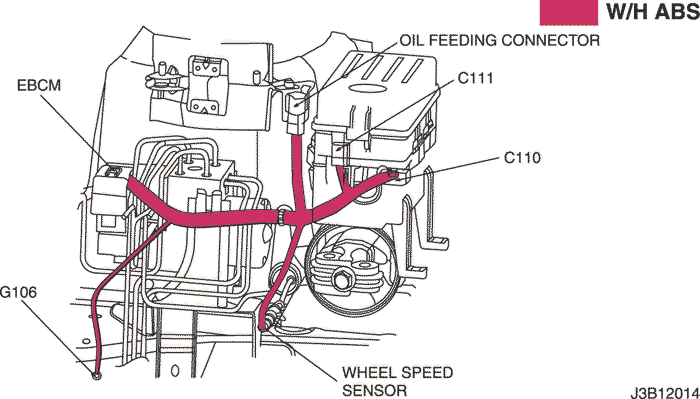 Daewoo Musso Automatic Brake Differential Lock Wiring
