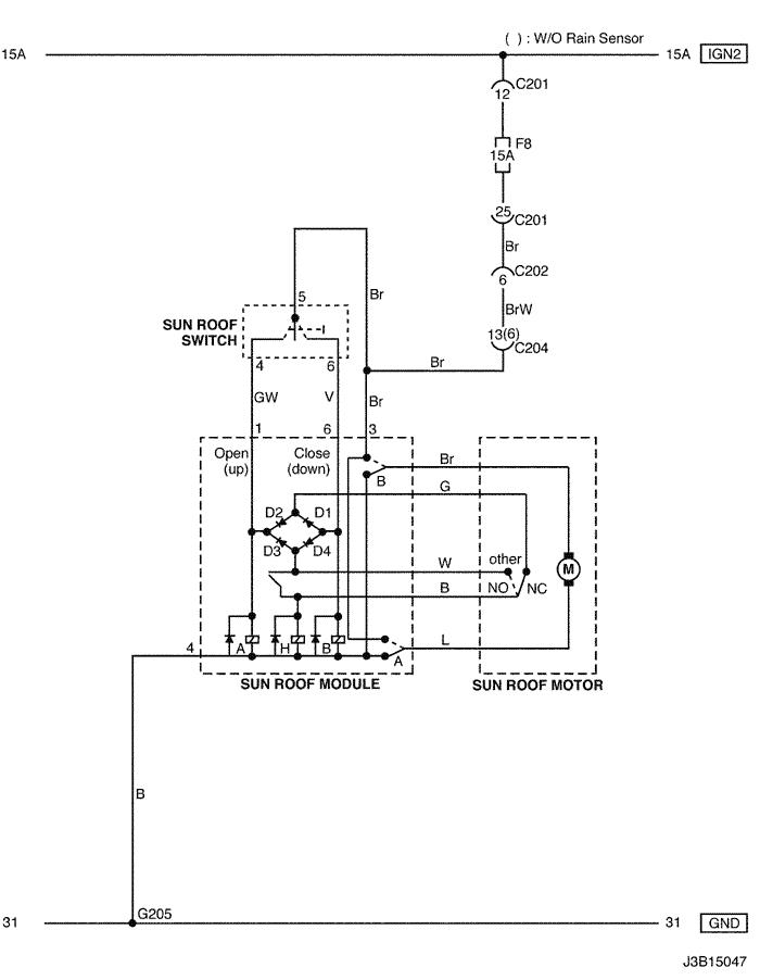 Electrical Wiring Diagram 2005 Nubira-Lacetti 29. SUN ROOF