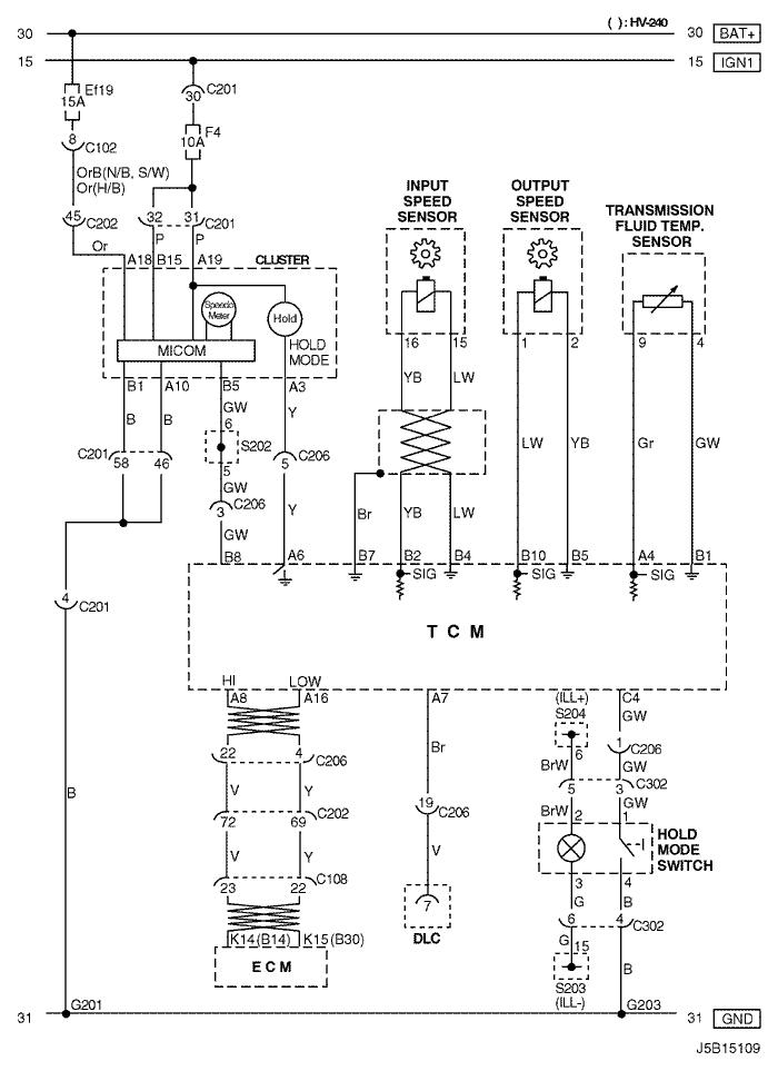 Electrical Wiring Diagram 2005 Nubira-Lacetti 5. TCM