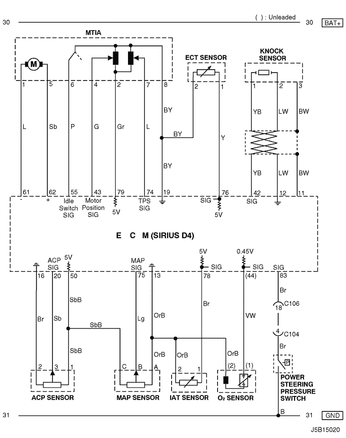 Electrical Wiring Diagram 2005 Nubira-Lacetti 4. ECM