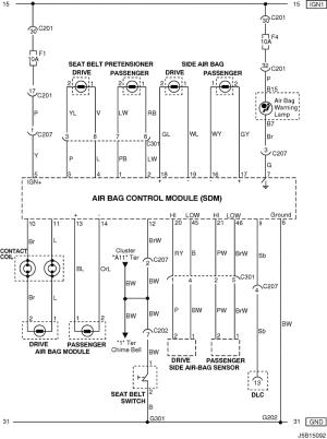Electrical Wiring Diagram 2005 NubiraLacetti 28 AIR BAG