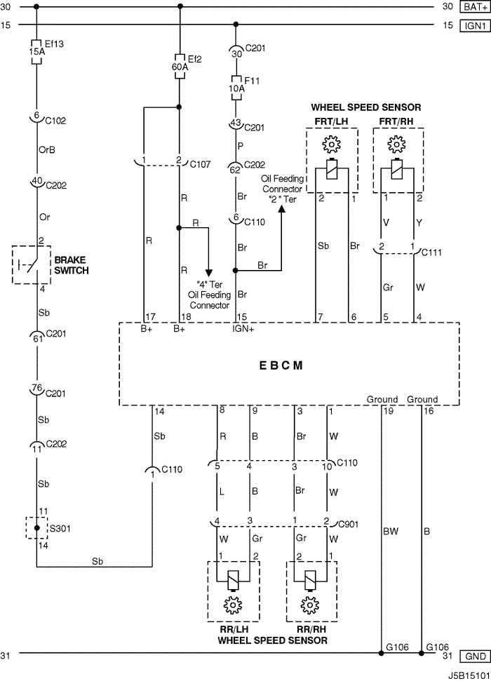 Electrical Wiring Diagram 2005 Nubira-Lacetti 27. ABS