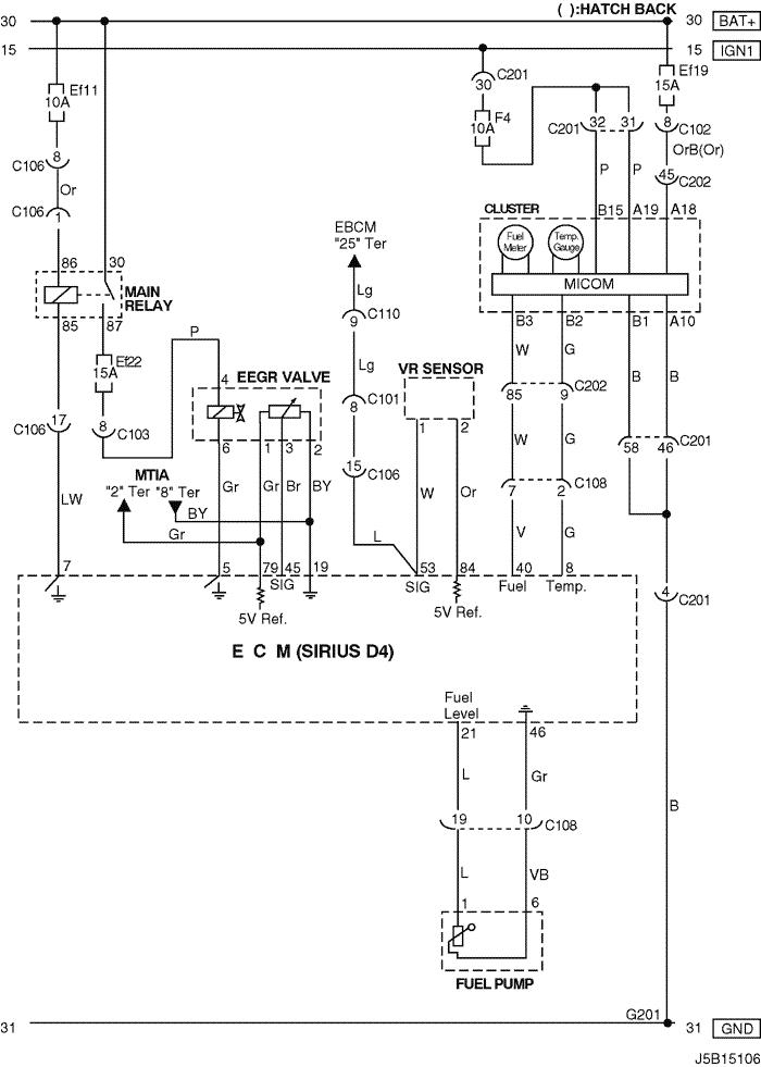 Electrical Wiring Diagram 2005 Nubira-Lacetti 4. ECM