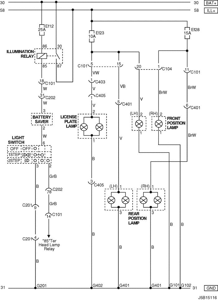 Electrical Wiring Diagram 2005 Nubira-Lacetti 11