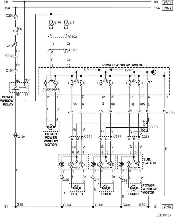 Electrical Wiring Diagram 2005 Nubira-Lacetti 23. POWER