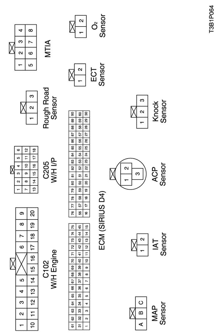 Electrical Wiring Diagram 2005 Kalos 4. ECM (ENGINE