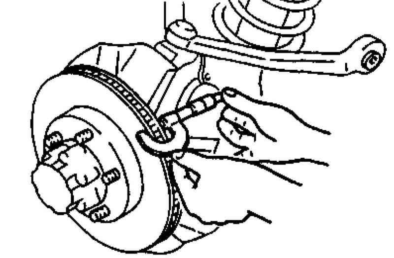 Kia Sportage Проверка компонентов тормозной системы