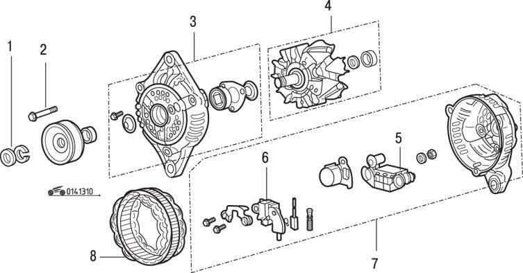 Mazda 626 / MX-6 Система электроснабжения