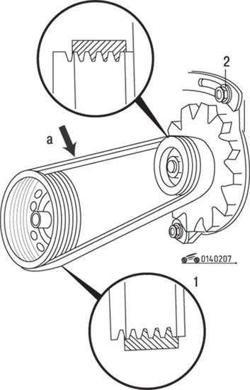 Mazda 626 / MX-6 Проверка, регулировка натяжения и замена