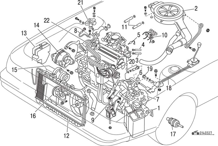 Mazda 626 / MX-6 Снятие и установка двигателя