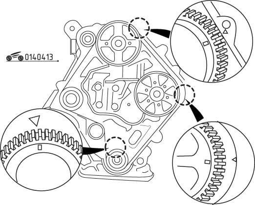 Mazda 626 / MX-6 Снятие и установка зубчатого ремня