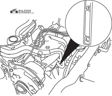 Mazda 626 / MX-6 Проверка уровней эксплуатационных жидкостей