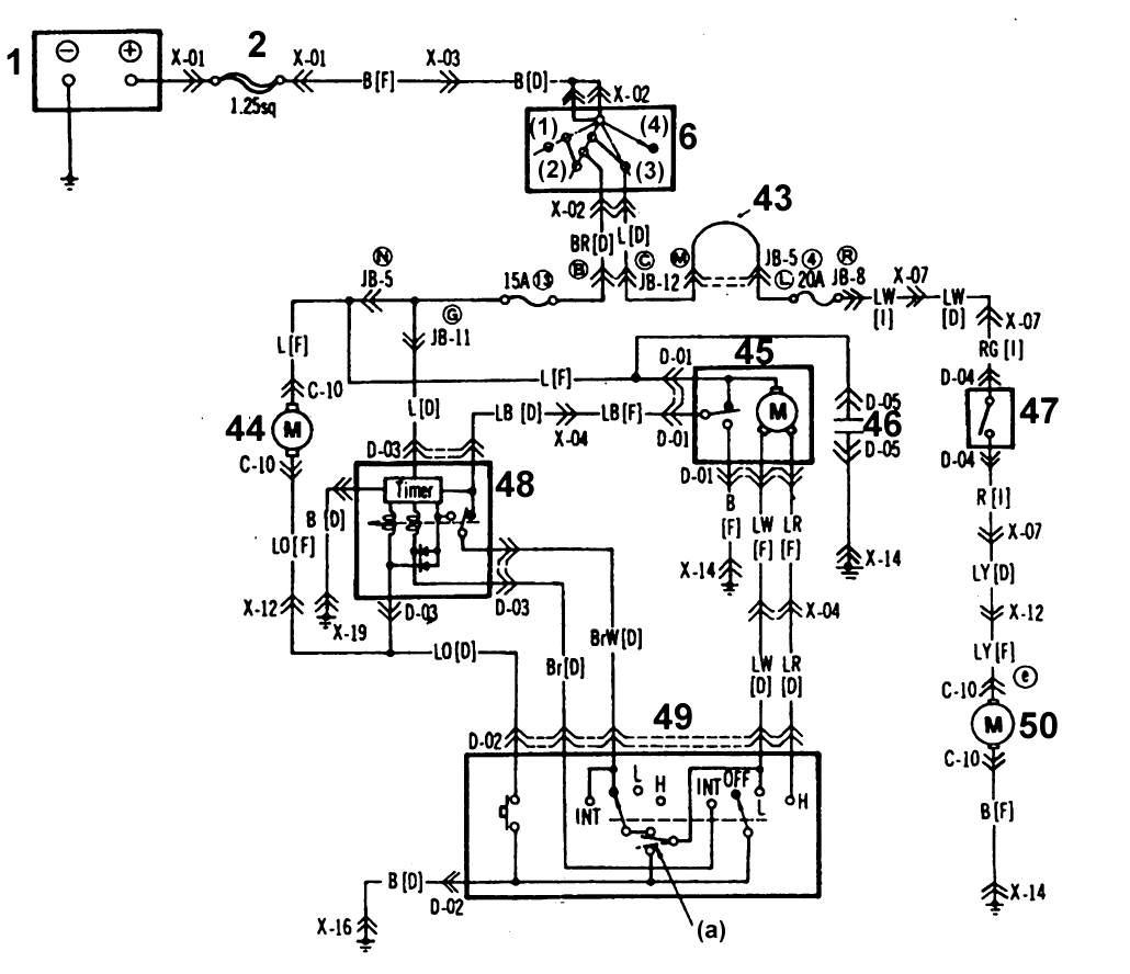 Mazda 626 / MX-6 Электрические схемы