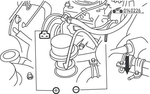 Mazda 626 / MX-6 Проверка системы обеднения