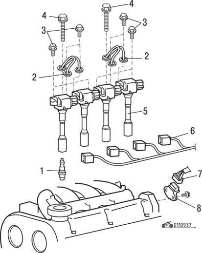 Mitsubishi Carisma Распределитель зажигания двигателя DOHC