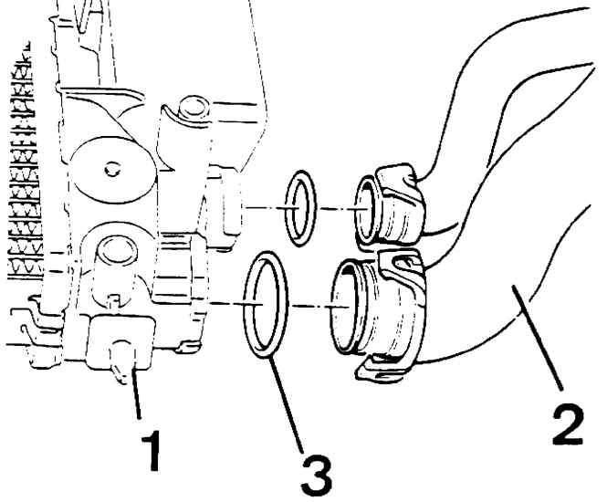 Peugeot 405 Шланги системы охлаждения