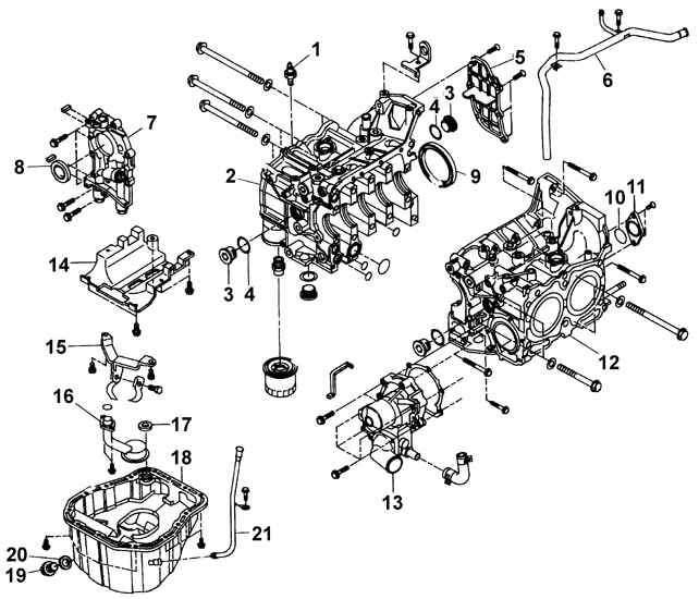 Subaru Legacy Последовательность разборки двигателя