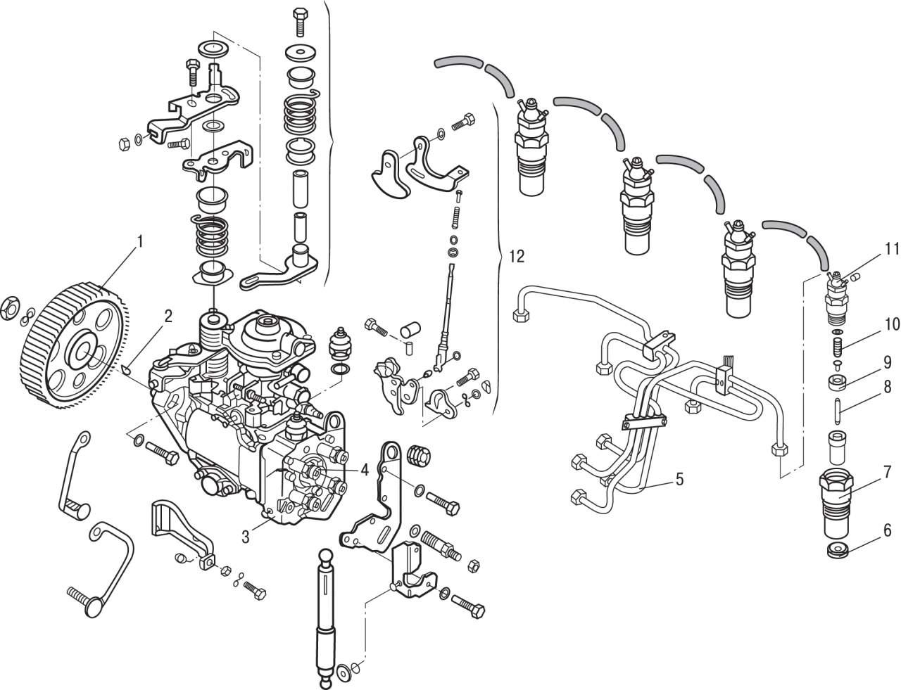 Volkswagen Passat B3 B4 Топливный насос высокого давления