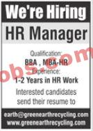 Green Earth Recycling Company Announced Management Pk Jobs 2021