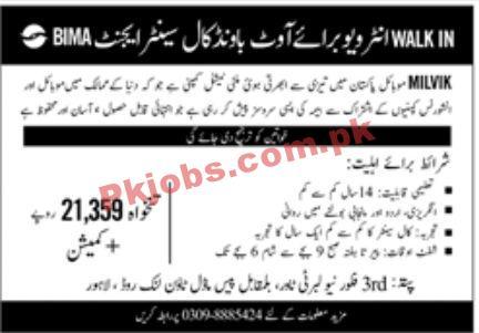 Jobs In Milvik Mobile Pakistan