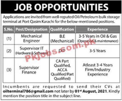 Jobs In Oil & Petroleum Terminal