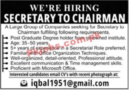 Jobs In Large Group Of Companies
