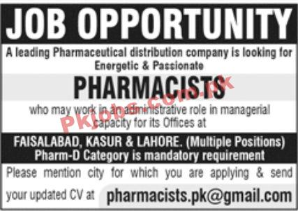 Jobs In Leading Pharmaceutical Distribution Company